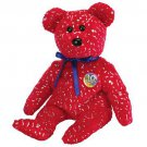TY Beanie Babies DECADE the Bear - Red (MINT with tags)