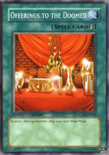 Yugioh 2008 Gold Series Single Card Offerings to the Doomed GLD1-EN034