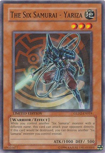Yugioh Gold Series 2009 Single Card The Six Samurai - Yariza GLD2-EN019