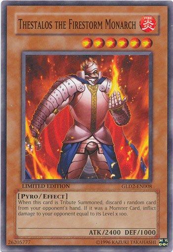 Yugioh Gold Series 2009 Single Card Thestalos the Firestorm Monarch GLD2-EN008