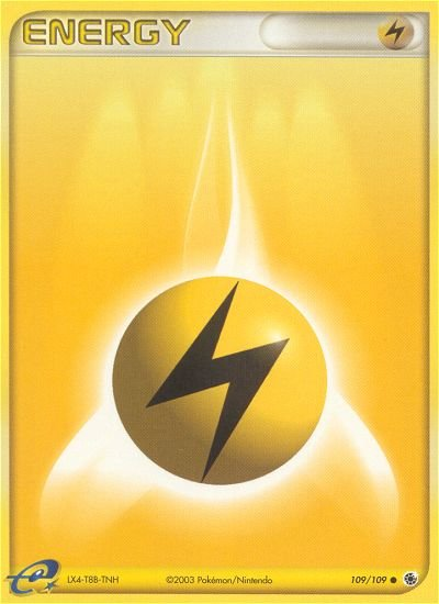 Pokemon EX Ruby & Sapphire Single Card Common Lightning Energy 109/109