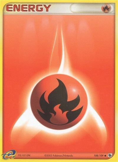 Pokemon EX Ruby & Sapphire Single Card Common Fire Energy 109/109