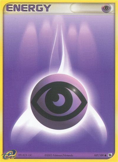 Pokemon EX Ruby & Sapphire Single Card Common Psychic Energy 107/109