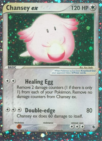 Pokemon EX Ruby & Sapphire Single Card Holofoil Rare Chansey EX 96/109