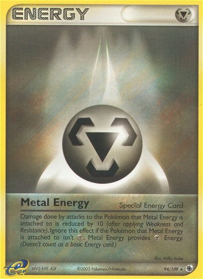 Pokemon EX Ruby & Sapphire Single Card Rare Metal Energy 94/109