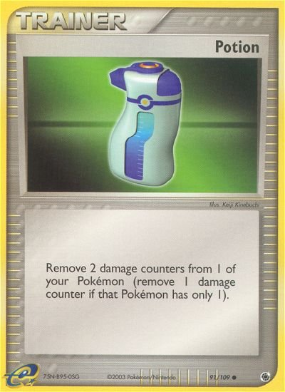 Pokemon EX Ruby & Sapphire Single Card Common Potion 91/109