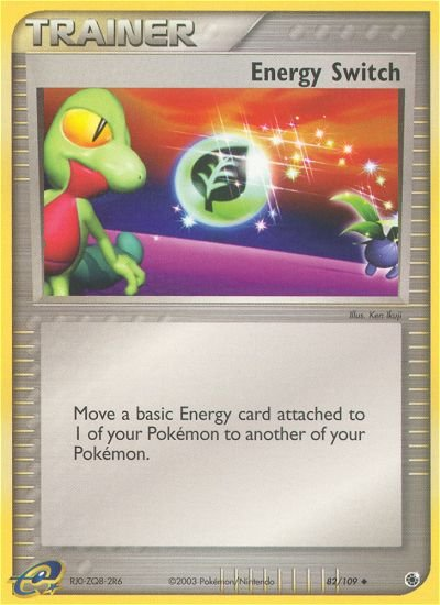 Pokemon EX Ruby & Sapphire Single Card Uncommon Energy Switch 82/109