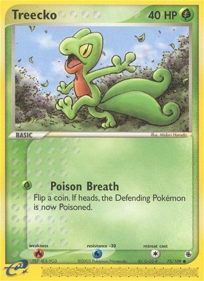 Pokemon EX Ruby & Sapphire Single Card Common Treecko 75/109