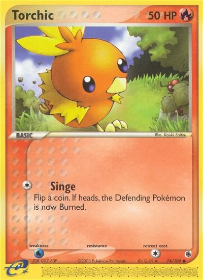 Pokemon EX Ruby & Sapphire Single Card Common Torchic 74/109