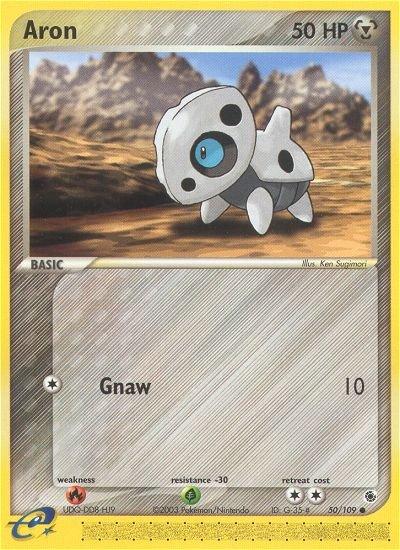 Pokemon EX Ruby & Sapphire Single Card Common Aron 50/109