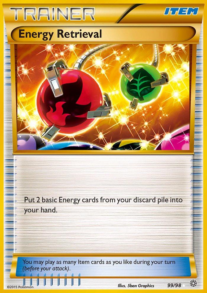 Pokemon XY Ancient Origins Single Card Secret Rare Energy Retrieval 99/98