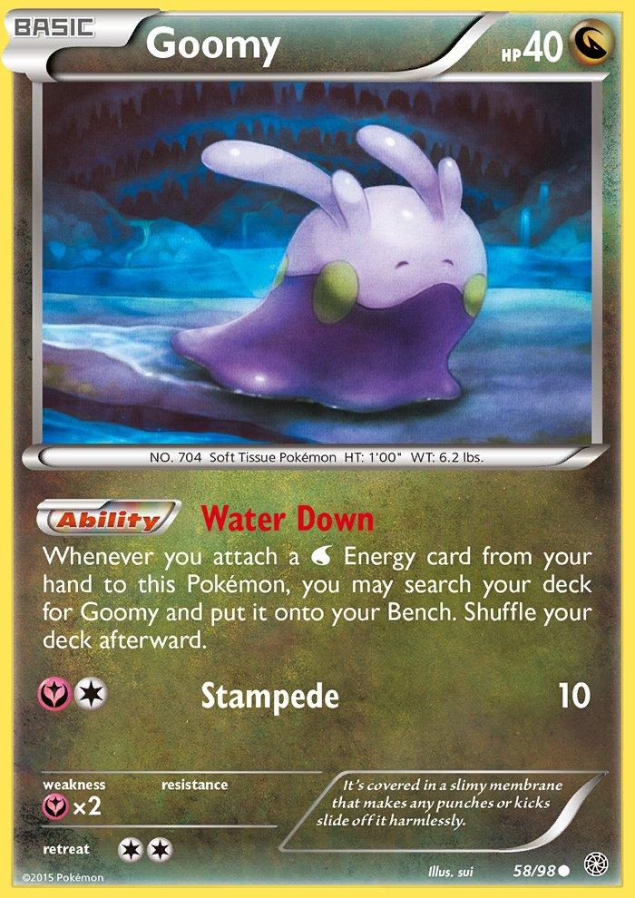 Pokemon XY Ancient Origins Single Card Common Goomy 58/98