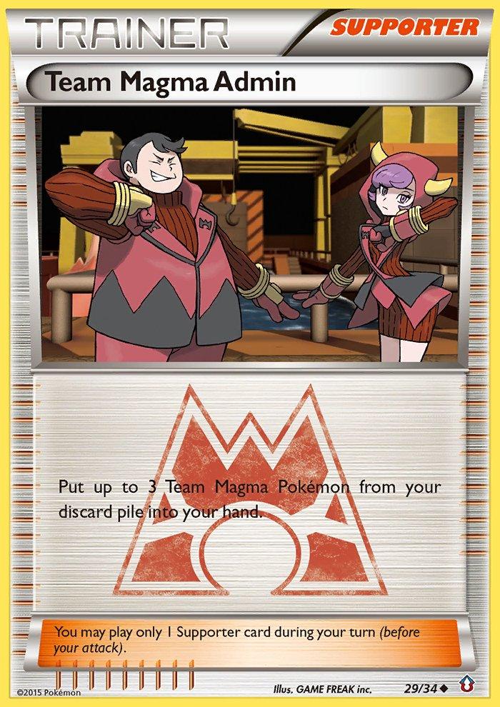 Pokemon Double Crisis Single Card Uncommon Team Magma Admin 29/34