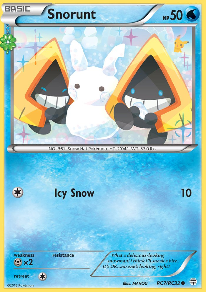 Pokemon Generations Radiant Collection Single Card Common Snorunt RC7/RC32