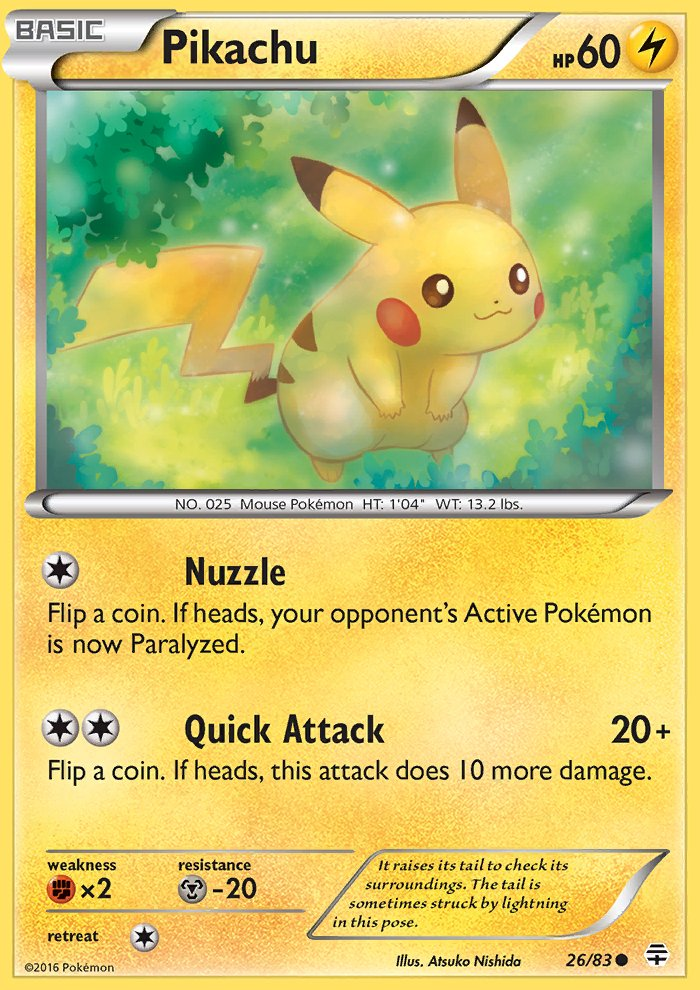 Pokemon Generations Single Card Common Pikachu 26/83