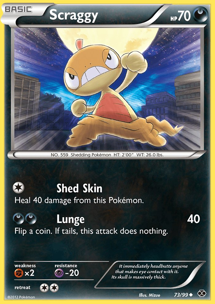 Pokemon B&W Next Destinies Single Card Uncommon Scraggy 73/99