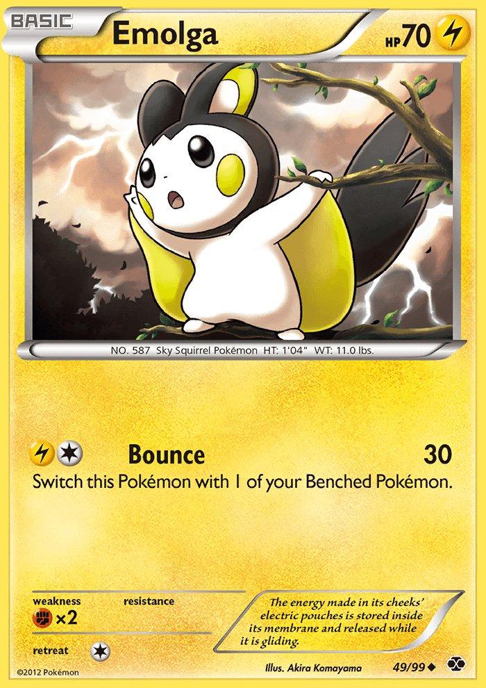 Pokemon B&W Next Destinies Single Card Uncommon Emolga 49/99