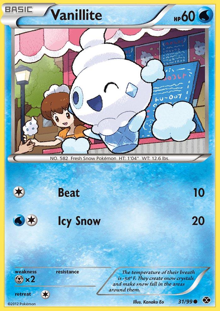 Pokemon B&W Next Destinies Single Card Common Vanillite 31/99