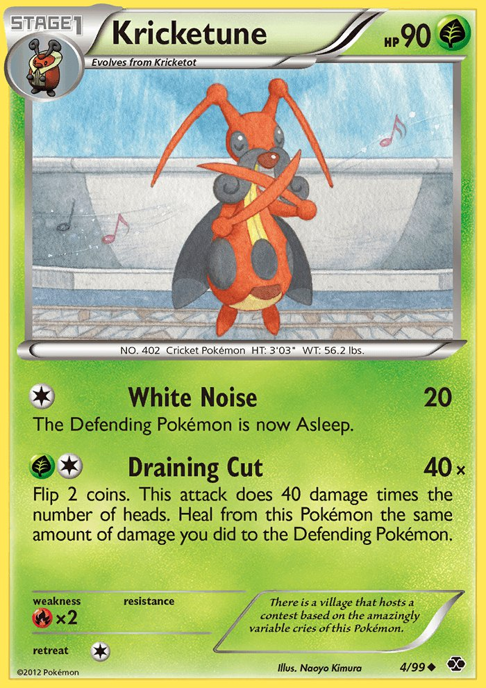 Pokemon B&W Next Destinies Single Card Uncommon Kricketune 4/99