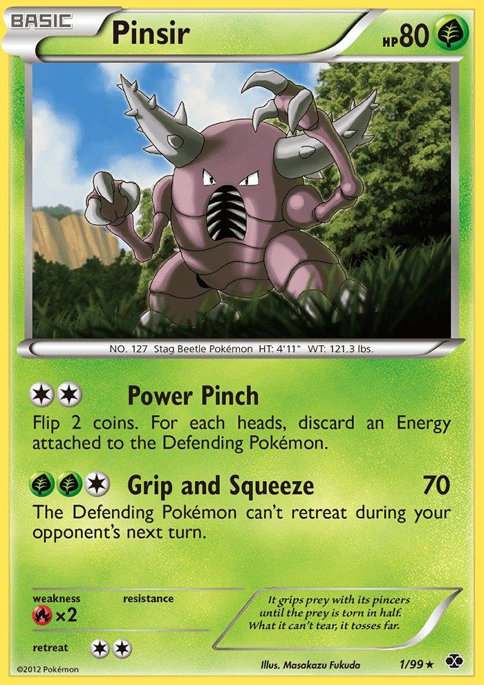 Pokemon B&W Next Destinies Single Card Rare Pinsir 1/99