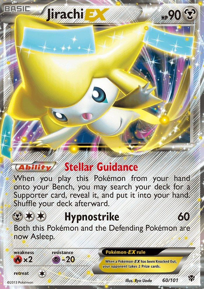 Pokemon B&W Plasma Blast Single Card Rare Holo EX Jirachi EX 60/101