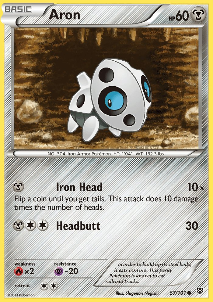 Pokemon B&W Plasma Blast Single Card Common Aron 57/101