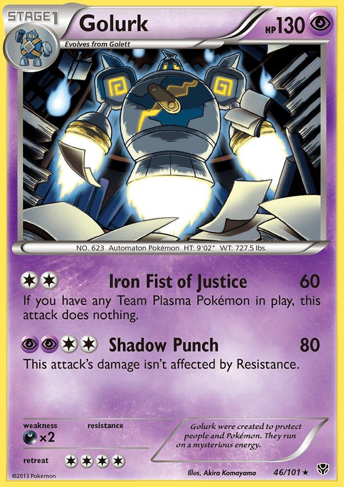 Pokemon B&W Plasma Blast Single Card Rare Holo Golurk 46/101