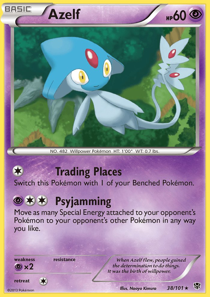 Pokemon B&W Plasma Blast Single Card Rare Azelf 38/101