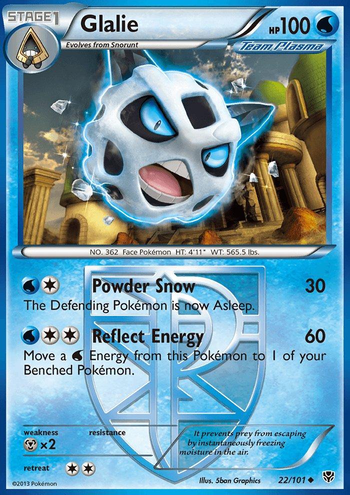 Pokemon B&W Plasma Blast Single Card Uncommon Glalie 22/101