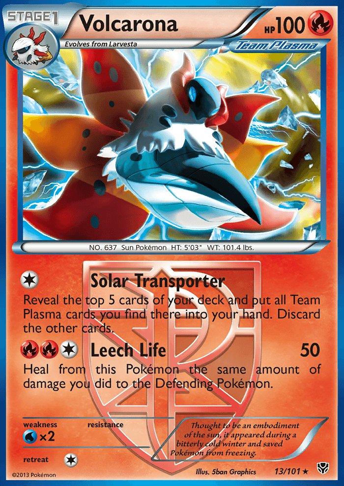 Pokemon B&W Plasma Blast Single Card Rare Volcarona 13/101