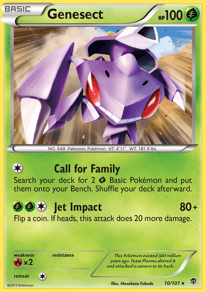 Pokemon B&W Plasma Blast Single Card Rare Genesect 10/101