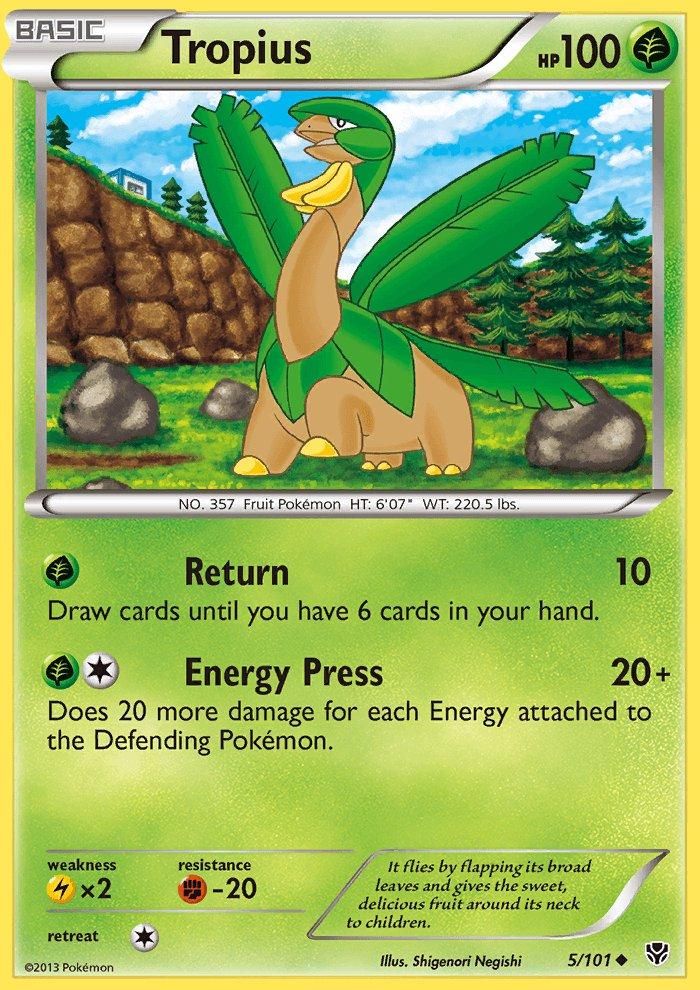 Pokemon B&W Plasma Blast Single Card Uncommon Tropius 5/101