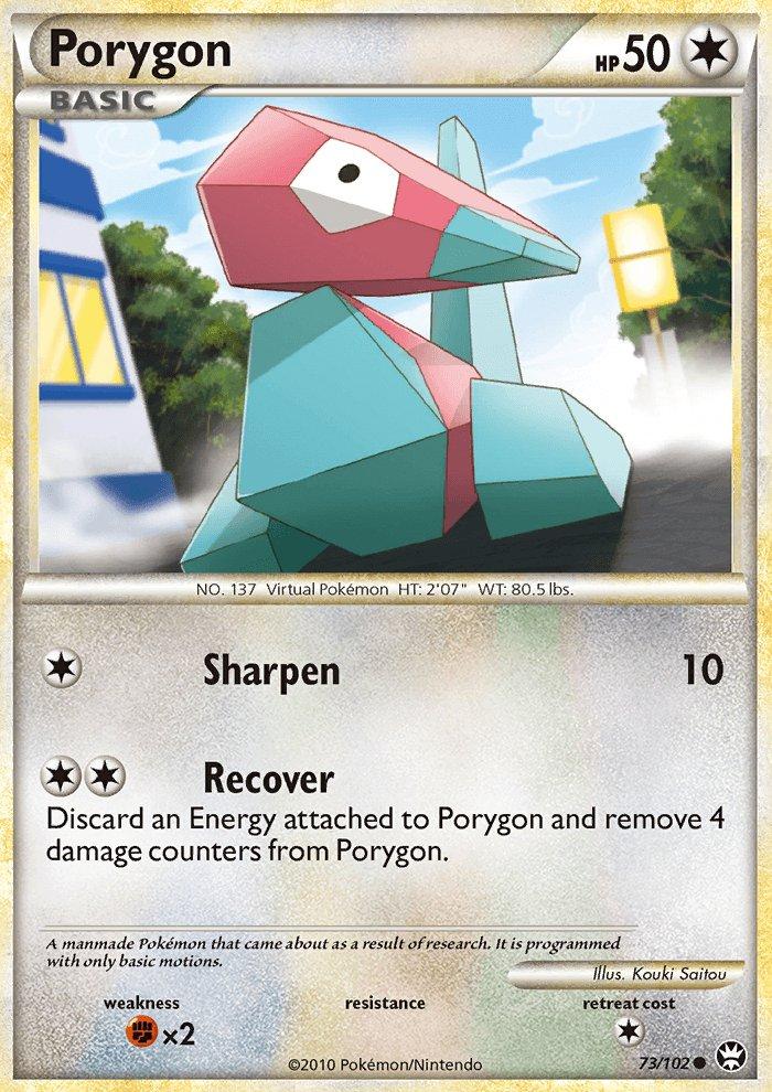 Pokemon HS Triumphant Single Card Common Porygon 73/102