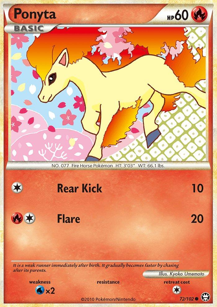 Pokemon HS Triumphant Single Card Common Ponyta 72/102
