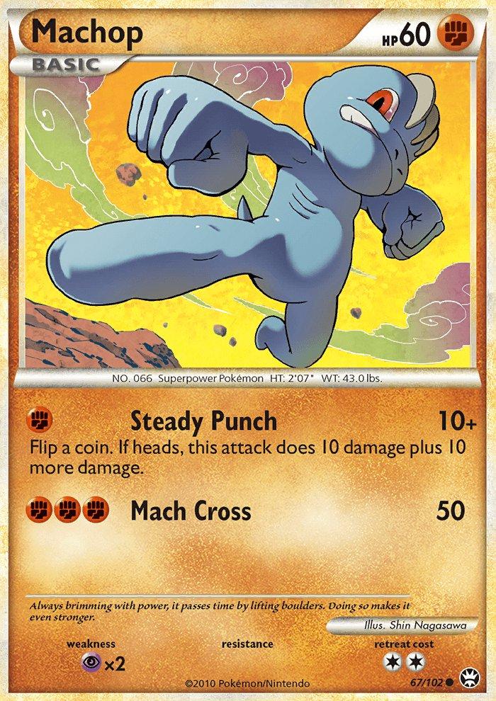 Pokemon HS Triumphant Single Card Common Machop 67/102