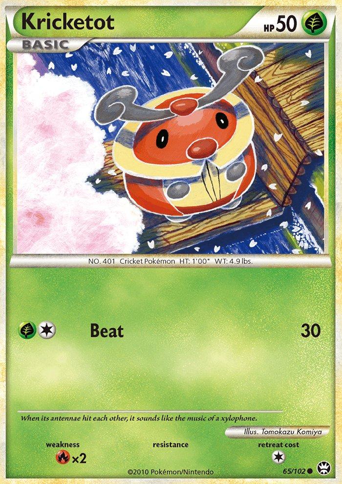 Pokemon HS Triumphant Single Card Common Kricketot 65/102