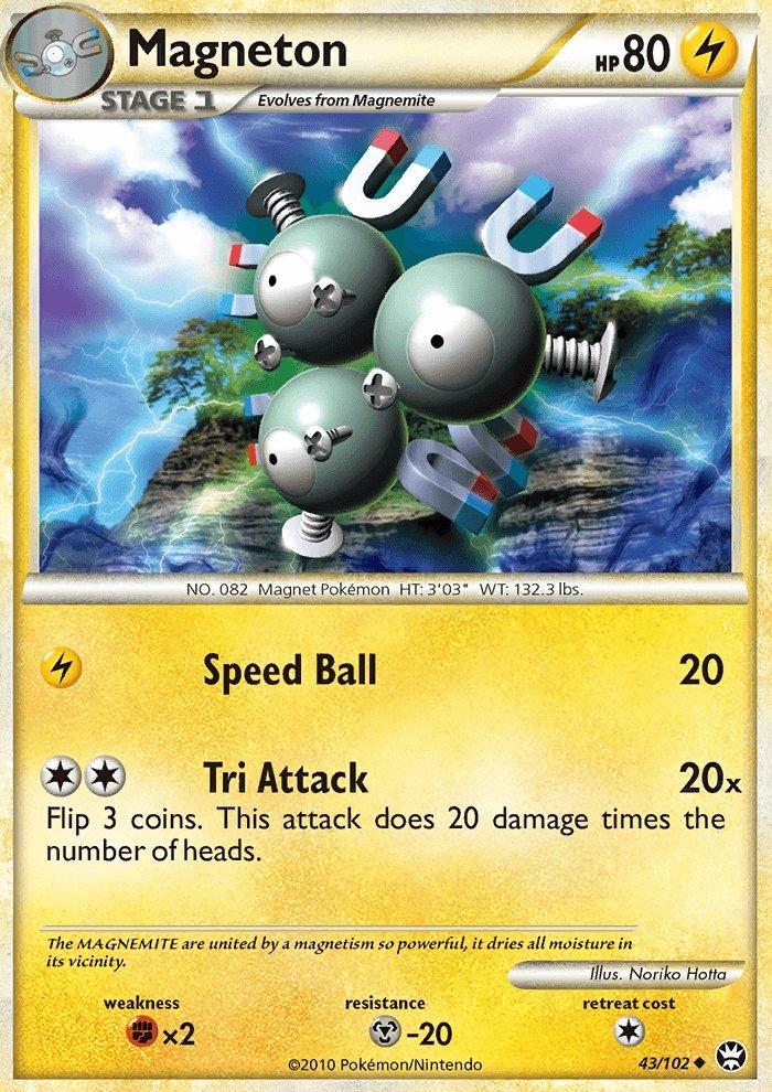 Pokemon HS Triumphant Single Card Uncommon Magneton 43/102
