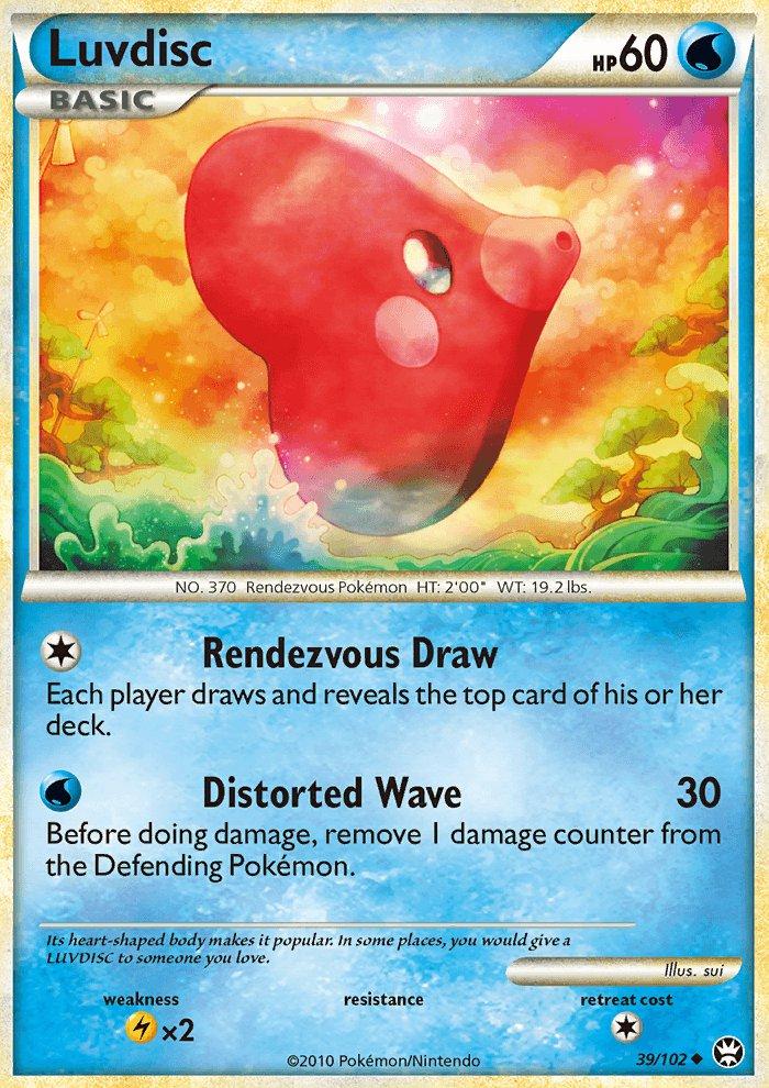 Pokemon HS Triumphant Single Card Uncommon Luvdisc 39/102