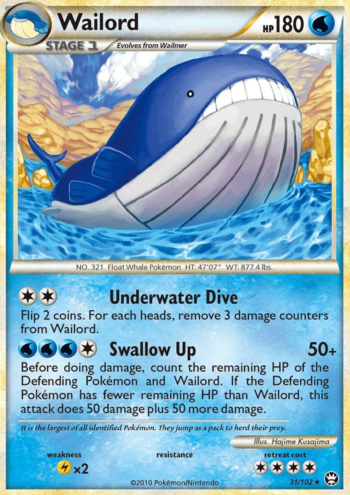 Pokemon HS Triumphant Single Card Rare Wailord 31/102