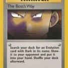 Pokemon Team Rocket Single Card Uncommon The Boss's Way 73/82