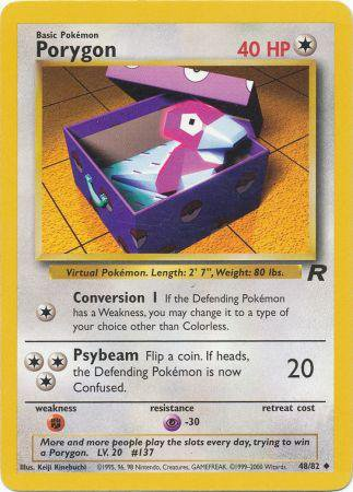 Pokemon Team Rocket Single Card Uncommon Porygon 48/82