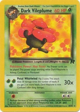 Pokemon Team Rocket Single Card Rare Dark Vileplume 30/82