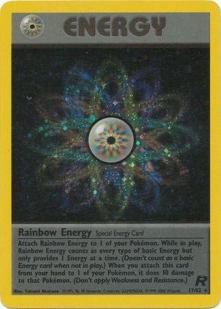 Pokemon Team Rocket Single Card Rare Holo Rainbow Energy 17/82