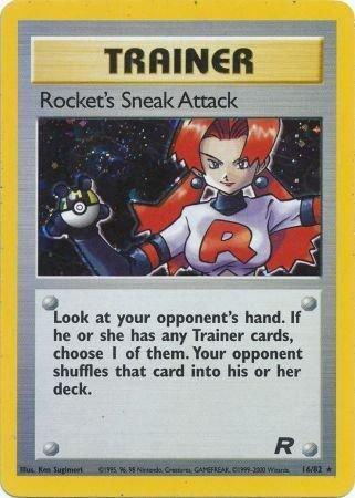 Pokemon Team Rocket Single Card Rare Holo Rocket's Sneak Attack 16/82