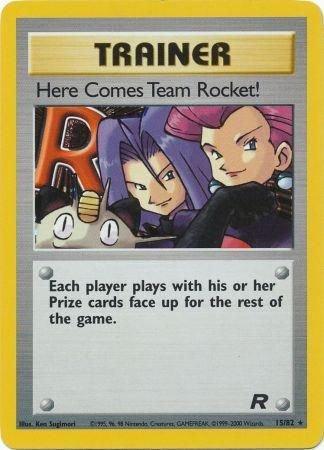 Pokemon Team Rocket Single Card Rare Holo Here Comes Team Rocket! 15/82