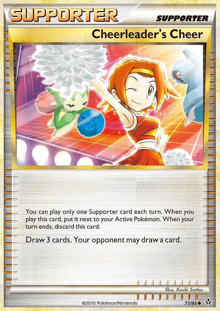 Pokemon HS Unleashed Single Card Uncommon Cheerleader's Cheer 71/95