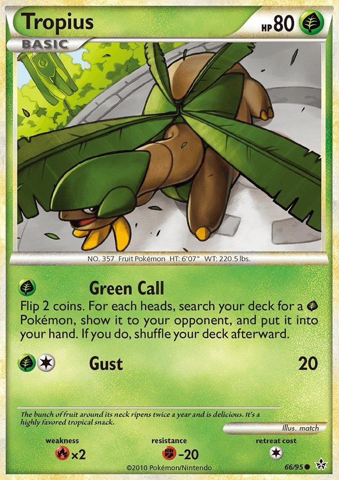 Pokemon HS Unleashed Single Card Common Tropius 66/95