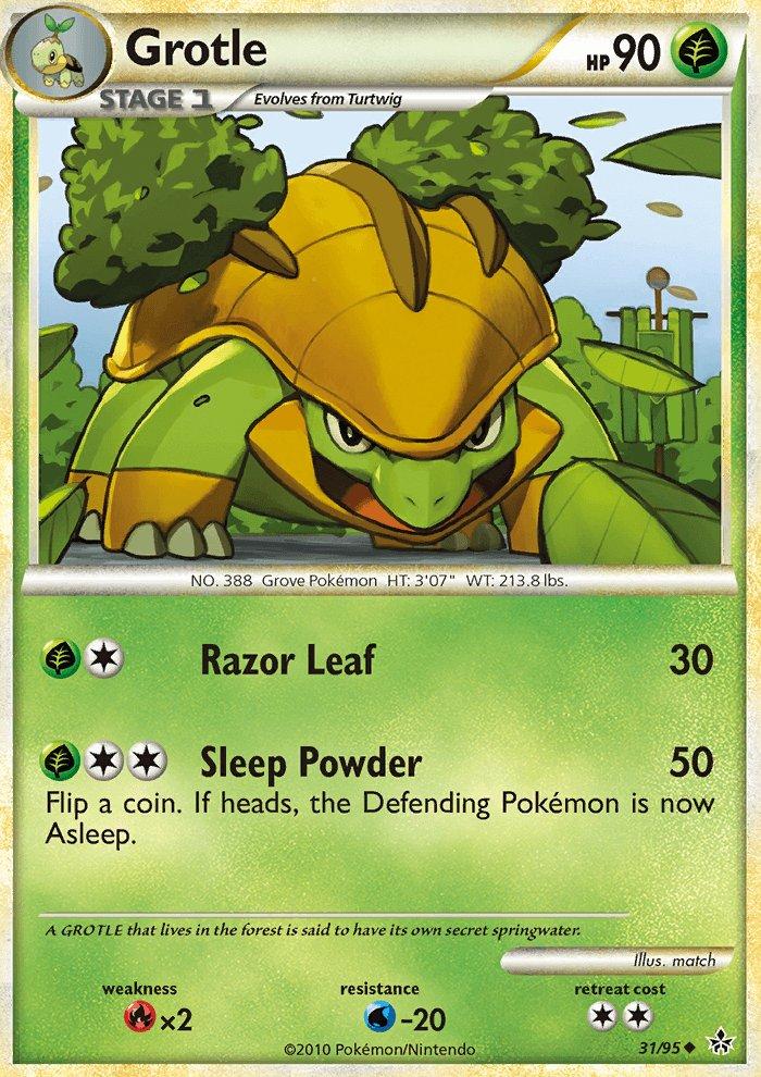 Pokemon HS Unleashed Single Card Uncommon Grotle 31/95