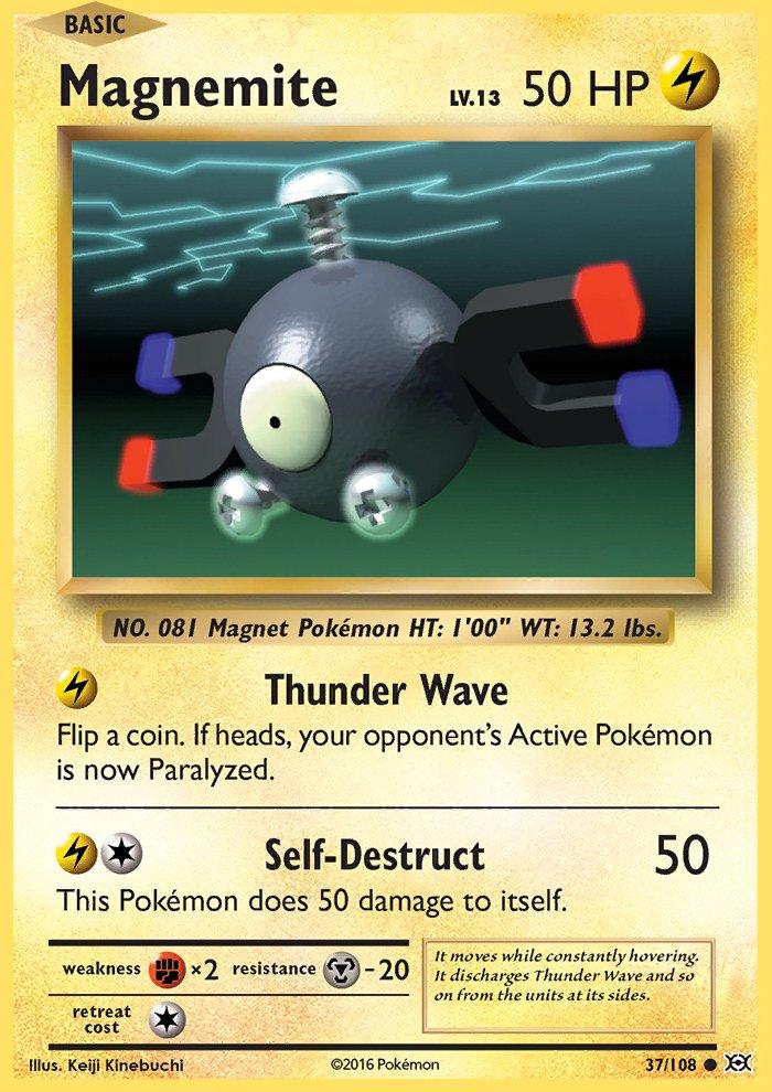 Pokemon XY Evolutions Single Card Common Magnemite 37/108