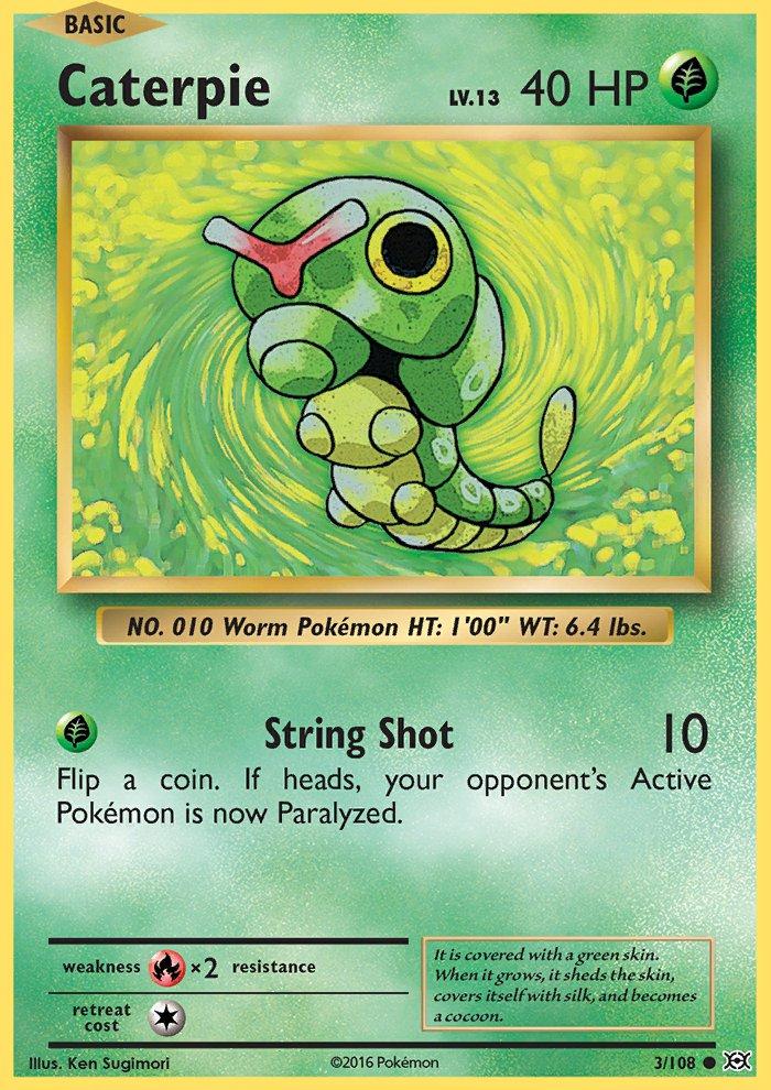 Pokemon XY Evolutions Single Card Common Caterpie 3/108